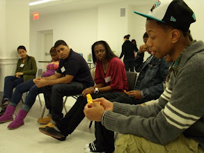 """Photo: 3.16.12 """"Bring Your Brother Day"""" a workshop about street harassment, facilitated by Girls for Gender Equity in New York City, NY, USA"""