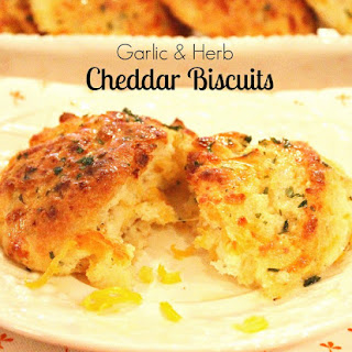 Garlic And Herb Cheddar Biscuits.