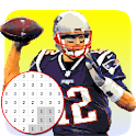 American Football Player Color By Number - Pixel icon
