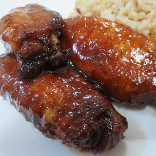 Teriyaki Chicken Wings in Slow Cooker.