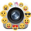 Camara emoji editor stickers icon