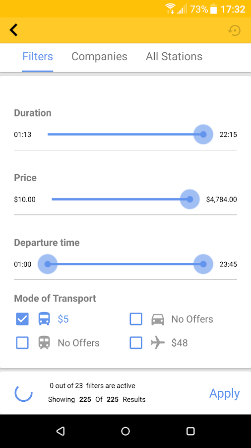 CheckMyBus – The Intercity Bus Comparison App- screenshot