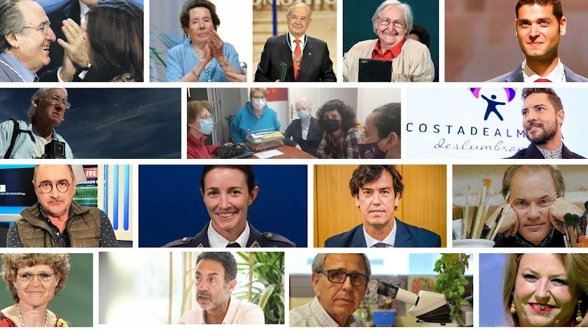Imágenes de algunos de los almerienses premiados con la Medalla de Andalucía desde 2001.