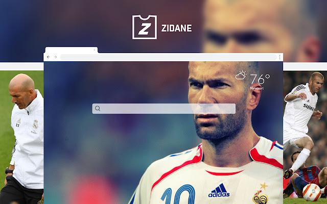 Zidane HD Wallpapers New Tab