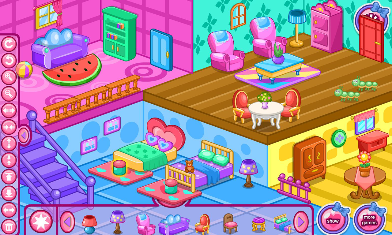 Doll house decoration game- screenshot