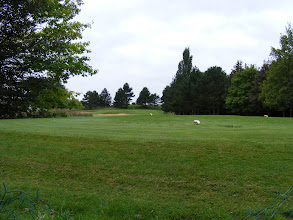 Photo: Still on course, passing a hole on the Golf de Mont Griffon, which includes three courses and a 3 star hotel.