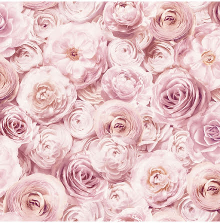 Arthouse 901700 Tapet med rosor, Rosa