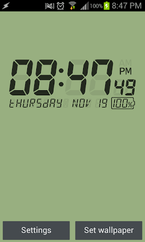 android LCD Clock Live Wallpaper Screenshot 0