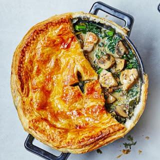Chicken, Kale & Mushroom Pot Pie
