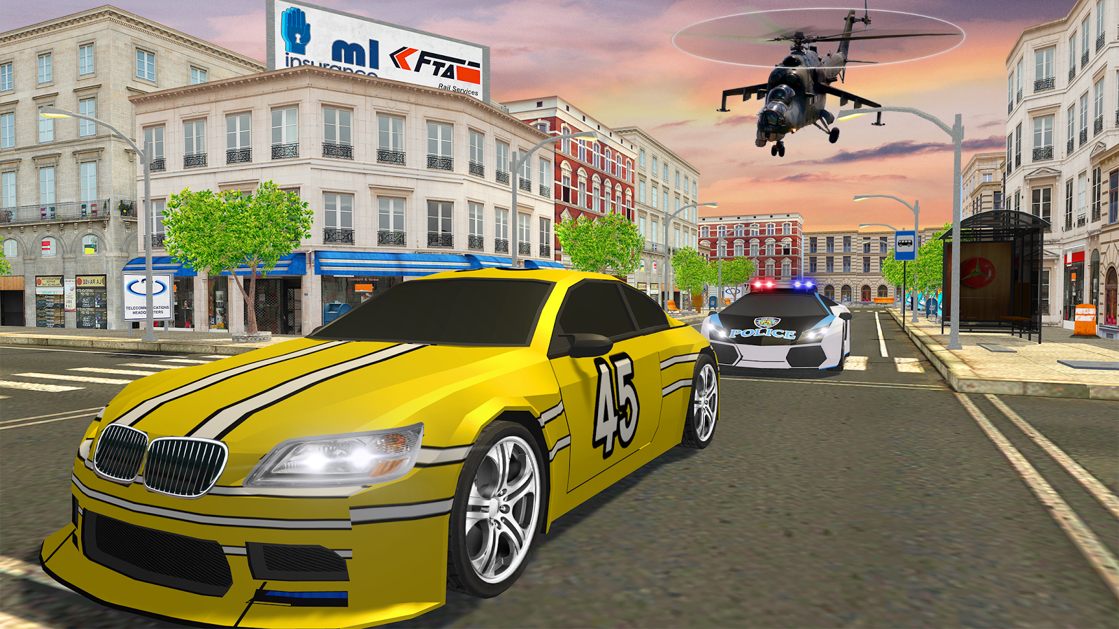 Police Helicopter Extreme Battle - 3D Flight Sim- screenshot