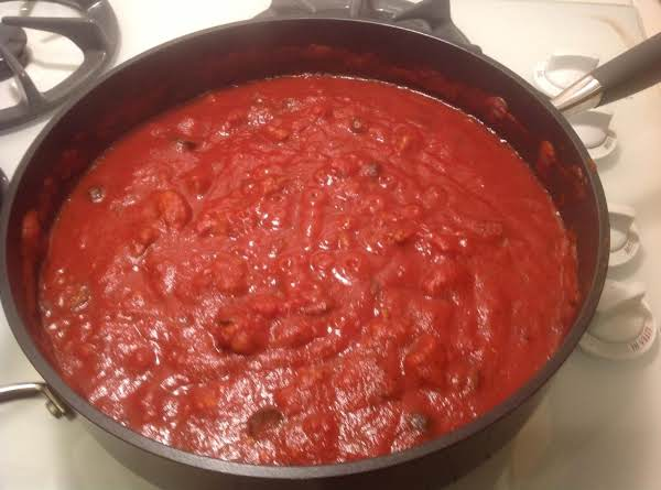 Nonni's Red Pasta Sauce With Italian Sausage Recipe