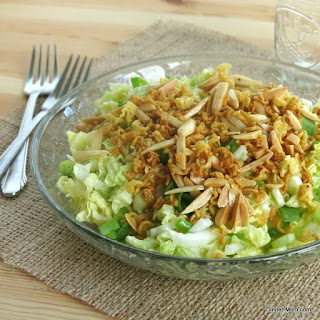 Chinese Napa Cabbage Salad with a Crunchy Topping.