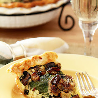 Caramelized Garlic, Spinach and Mushroom Tart