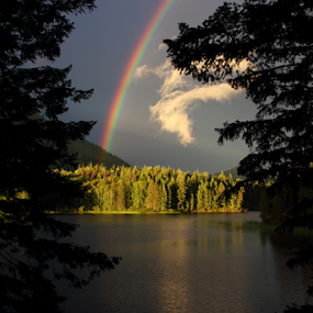 McKinley Lake, Horsefly BC, Canada by Reinilda Sissons - Landscapes Waterscapes ( #garyfongdramaticlight, #wtfbobdavis,  )