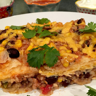 Gluten-Free Black Beans And Rice Mexican Lasagna
