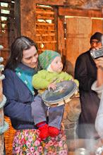 Photo: Ulliman e o filhote Udo, mostrando que conhece a percussão