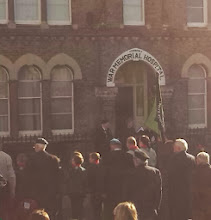 Photo: 'We Shall Remember Them' service outside the memorial hospital.