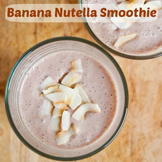 Banana Nutella Smoothie.