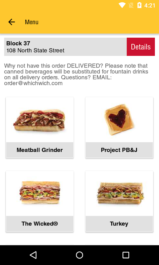 Which Wich Ordering 1.0- screenshot