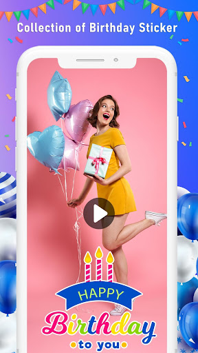 Birthday Video Maker with Song and Name ss2