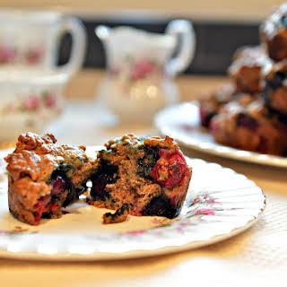 Cranberry Blueberry Bran Muffins.