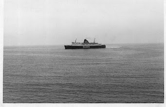 "Photo: ""Horsa"" arriving at Folkestone September 2, 1975. Photo: A.M.S.Russell."