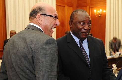 Trevor Manuel, left, and Cyril Ramaphosa. Picture: GCIS