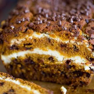 Chocolate Chip Pumpkin Cream Cheese Bread
