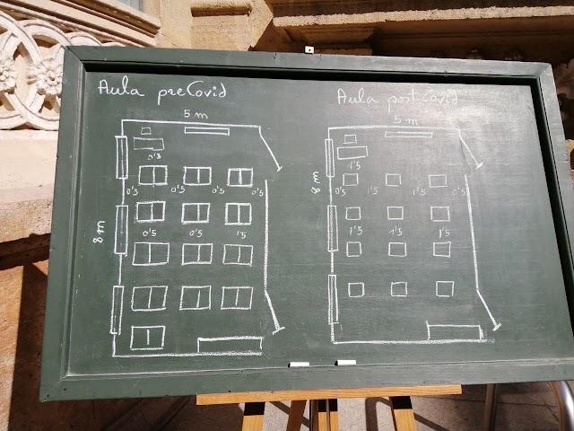 80 m2 es la superficie necesaria en cada aula para cumplir las distancias de seguridad.