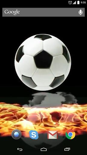 Fiery football Live Wallpaper