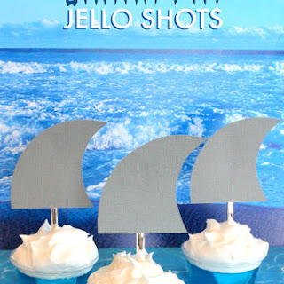 Shark Fin Jello Shots