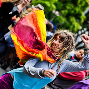 Festival Dance by Graeme Carlisle - News & Events World Events ( hippie, woman, street, dance )