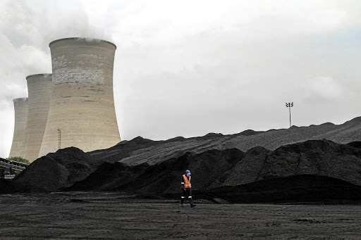 Coal stores at the Grootvlei power station, operated by Eskom in Grootvlei, Mpumalanga. Picture: BLOOMBERG