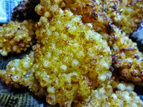 """Photo: Home-made Sabudana Wada (fried Tapioca dumpling) cooked by my husband. Taste just like Japanese Age-mochi (fried sticky rice cake), yummy! However, I fail to understand this heavy snack is treated as """"fasting food"""" in Maharashtra. 1st August updated (日本語はこちら) -http://jp.asksiddhi.in/daily_detail.php?id=619"""