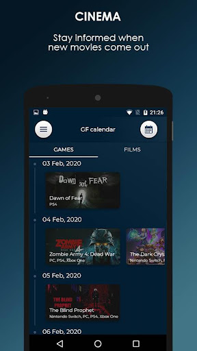 GF Calendar - Games and Films ss3