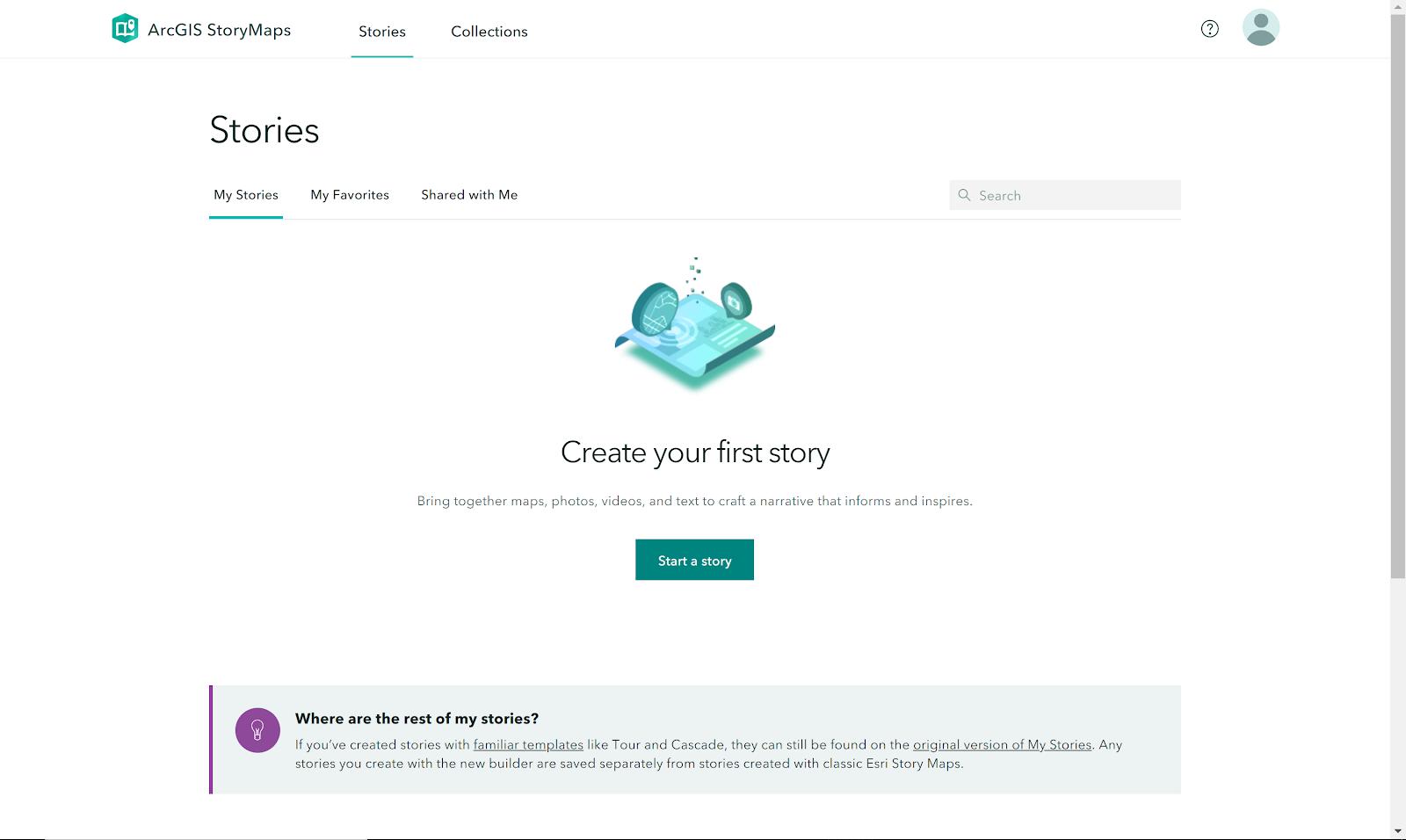 StoryMaps Homepage