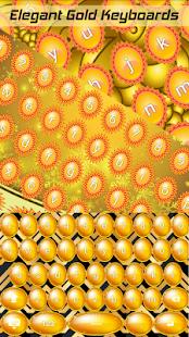 Elegantní zlaté klávesnice - náhled