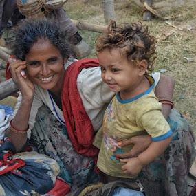 Motherhood by Sumita Mehera - People Street & Candids