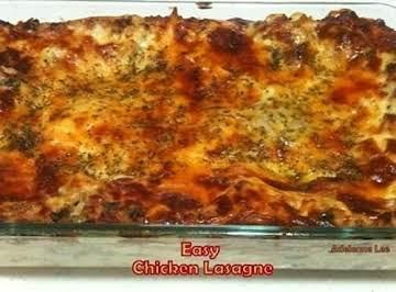 Easy Chicken Lasagne