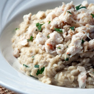 Crab and Artichoke Risotto.
