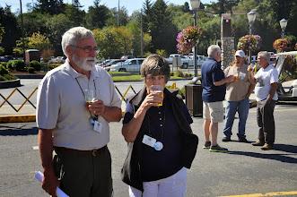 Photo: Bob and Priscilla Raffety enjoying a beer