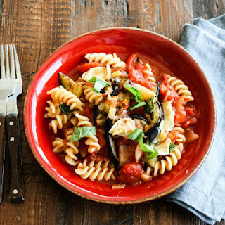 Pasta with Eggplant and Artichoke