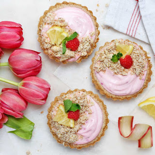 Rhubarb-Raspberry Healthy Breakfast Tarts (Gluten-Free, Dairy-Free, Vegan, Workout Food) Recipe