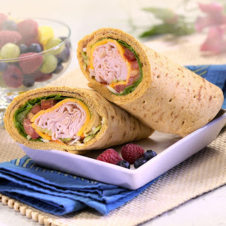 Turkey Ranch Flatbread Wrap Recipe