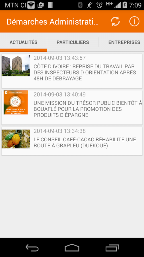 Démarches Administratives- screenshot