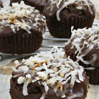 Chocolate Coconut Cupcakes.