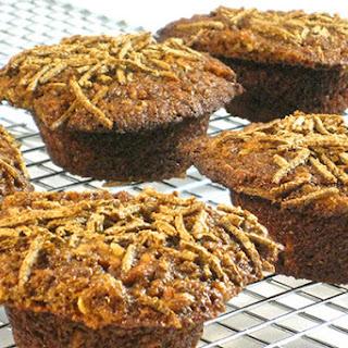 Super Moist, Skinny Carrot Cake Bran Muffins