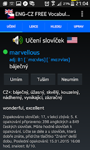 Jiki English Czech Vocabulary Screenshot 1
