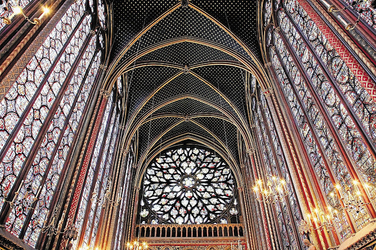 The Sainte-Chapelle was commissioned by Louis IX to house items like the crown of thorns