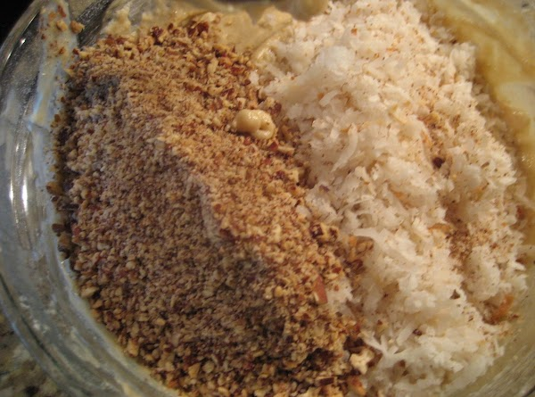 Fourth bowl: Gradually mix the dry ingredients with the wet ingredients, starting and ending...
